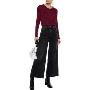 Rag & Bone Marled Crimson Red Hudson Jersey Top